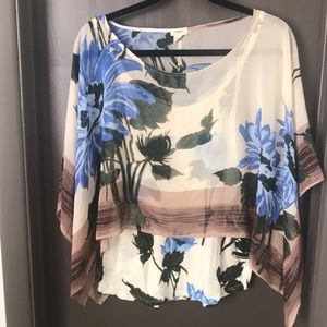 Anthropologie floral blouse by Tiny